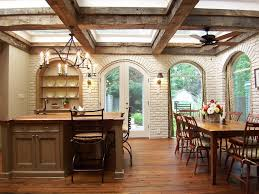 White Ceiling Beams Decorative by White Brick Walls Beam Ceiling Great Photo Of How The Booth