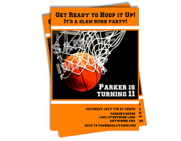 basketball invitations free