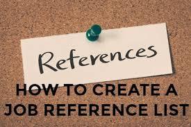 Resume Reference List Format Sample Job Reference List