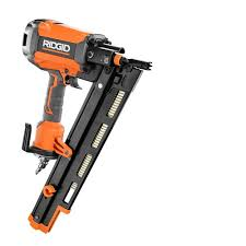 Battery Roofing Nailer by Ridgid 3 1 2 In Full Size Palm Nailer R350pnf The Home Depot
