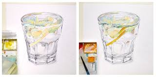 old fashioned cocktail drawing watercolor drinks and deserts on behance