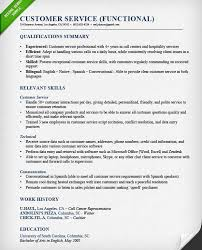Skills Summary Resume Sample by Customer Service Skills For Resume Resume Client Service Service