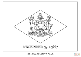 flag of delaware coloring page free printable coloring pages