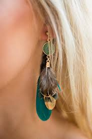 feather earring power of feather earring in jade impressions online boutique