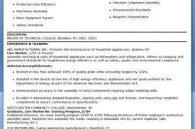 Assembly Line Resume Production Worker Resume Production Line Worker Resume Examples