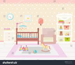 Baby Room Interior by Baby Room Interior Flat Design Baby Stock Vector 524039401
