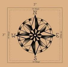 traditional compass flash traditional compass tattoo design