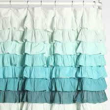 Ruffled Shower Curtain Tonal Wave Ruffle Shower Curtain Everything Turquoise