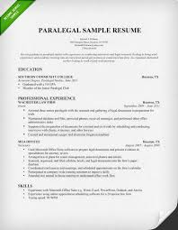 Sample Professional Resume Templates by Paralegal Cover Letter Sample Resume Genius
