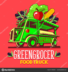 fruit delivery service food truck fruit seller greengrocer stand fast delivery service
