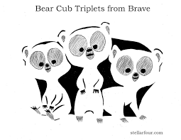 cartoon pumpkin stencil stellar four pumpkin carving pattern the bear cub triplets from