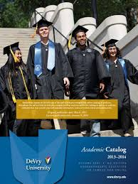 devry catalog academic term educational technology