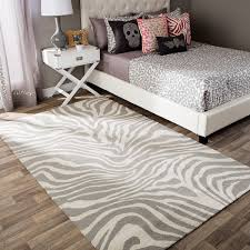 Zebra Area Rugs Andrew Charles Snow Leopard Collection Zebra Beige Area Rug 8 X