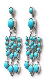 turquoise chandelier chelsea girl turquoise chandelier earring steve sasco design