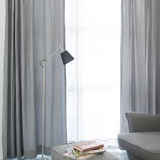 Beige And Gray Curtains Simple Japanese Style Grey Color Living Room Curtain