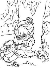 printable summer coloring reading tree colouring