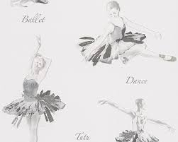 kids wallpaper ballerina boys u0026 girls white 30528 3