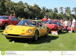 ferrari front view classic ferrari sports car lineup front view editorial photo