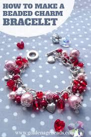 s charm bracelet diy beaded charm bracelet project for s day bracelets