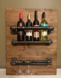 customized wall mount wine rack three bottle holder steampunk