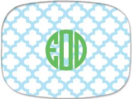 monogrammed platters haymarket designs moroccan tile melamine platter