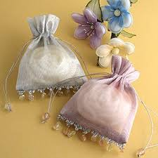 organza favor bags beaded organza favor bags
