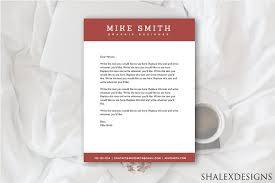 red business letterhead template stationery templates creative