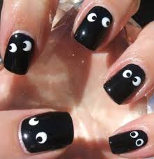 cute halloween nails black and white beautiful design nail art for short nails the