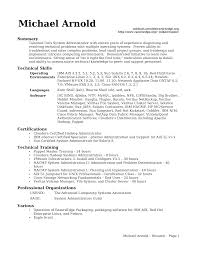 Professional And Technical Skills For Resume System Administrator Resume Format For Fresher Resume For Your