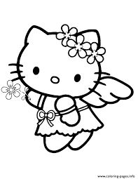 angel kitty coloring pages printable