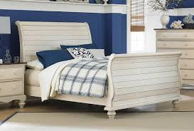 White Sleigh Bed Hillsdale Pine Island Sleigh Bed Old White 1052b Bed
