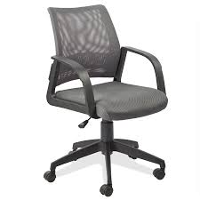 Executive Office Chairs Fabric Amazon Com Leick Gray Mesh Back Office Chair Kitchen U0026 Dining