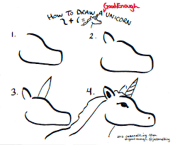 jeannelking com how to draw a good enough unicorn three ways