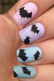 imagenes de uñas decoradas de jalowin diseño de murciélagos paso a paso para halloween