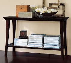 Black Console Table Metropolitan Console Table Pottery Barn