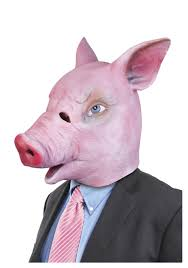 creepy pig mask