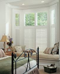mesa residential windows and household glass superior bow bay arafen bay windows window and bays on pinterest two tier white wood shutters blend perfectly in this