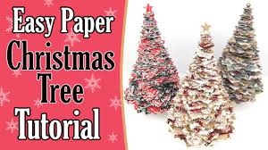 Easy Assemble Christmas Trees Easy Paper Christmas Tree Tutorial Youtube