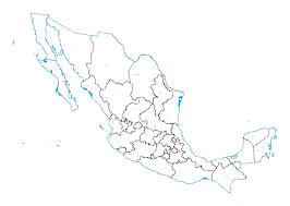 political map of mexico digital map of the state political boundaries of mexico data gov