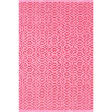 Rubber Backed Area Rugs by Fair Isle Pink Fuchsia Cotton Woven Rug The Outlet