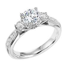 classic diamond rings images The classic three stone engagement ring with channel set side jpg