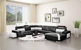 decor black couch living room decor with black leather sofa 214