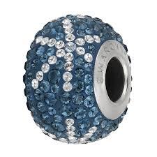 pandora style bead necklace images Swarovski becharmed pave snowflake bead 82063 14mm montana crystal jpg