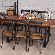 Restaurant Dining Chairs Vintage Cafe Bar Chairs And Chairs Combination Wooden Iron Casual