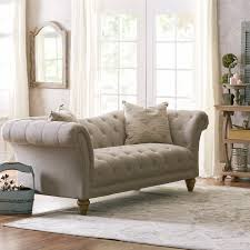 Grey Tufted Sofa by Furniture Eamon Tufted Sofa In Grey For Living Room Furniture Idea