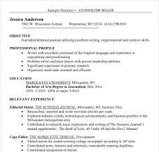 Journalism Resume Examples by Writing Cv Journalist