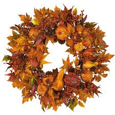 thanksgiving tree decorations shop nearly natural 28 in unlit harvest leaf artificial