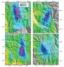 big chilean earthquake causes andean volcanoes to subside