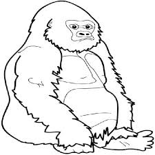 coloring page of gorilla gorilla coloring pages to print bell rehwoldt com