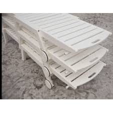Chaise Lounge With Wheels Outdoor Polywood Nautical Chaise Lounge With Wheels Ncw2280